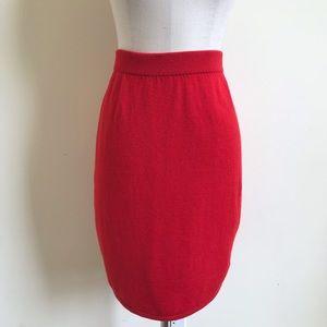 St. John Sportswear Red Santana Pencil Skirt